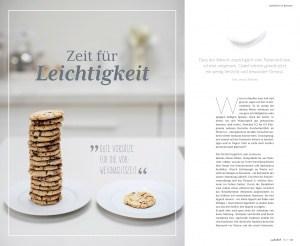 """Titel und erste Seite des Beitrags """"Zeit für Leichtigkeit"""" im Magazin """"natürlich"""" 06 2019"""